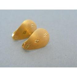 Zlaté dámske náušnice žlté zlato zaujímavy tvar aj vzor DN169Z