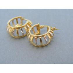Zlaté náušnice dámske kruhy dvojfarebné zlato DN270V