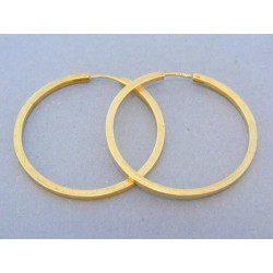 Zlaté náušnice hladké kruhy žlté zlato Zlaté náušnice hladké ... 63744089739
