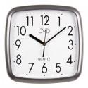 Nástenne hodiny JVD quartz H615.17 šedá metalíza