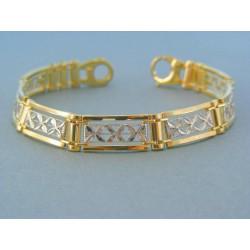 Zlatý náramok vzorovaný žlté biele zlato DN191452V