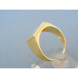 Zlatý pánsky prsteň dvojfarebné zlato VP67557V