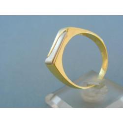 Elegantný pánsky prsteň žlté biele zlato VP68459V