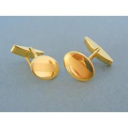 Manžetové gombíky žlté zlato VMG694Z