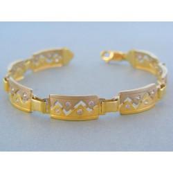 Zlatý náramok žlté biele zlato zirkóny VN1851302V