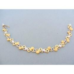 Zlatý náramok elegantný žlté biele zlato DN195915V