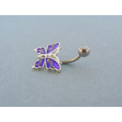 Piercing ch. oceľ motýľ VO202