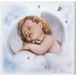 Strieborný obraz spiace dieťa D08.1268