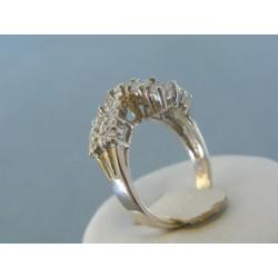Strieborný prsteň dámsky zirkóny ... 07c5a129315