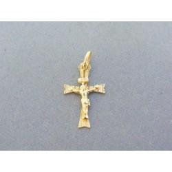 Zlatý prívesok krížik ukrižovaný ... d6e2fcfa241