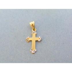 Zlatý prívesok krížik žlté ... c62b0dec72d