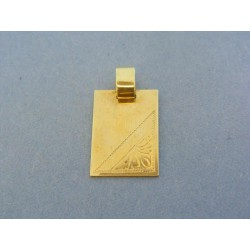 Zlatý prívesok vzorovaná platnička ... c72b7172442