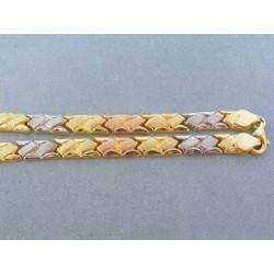 Zlatá retiazka trojfarebné zlato DR461240V