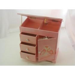 Detská šperkovnica hracia ružová D1317