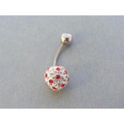 Piercing ch. oceľ krištáliky tvar gulička VO110