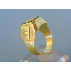 Zlatý pánsky prsteň žlté zlato inicialky podľa vlastného výberu VP65915Z