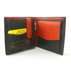 Pánska peňaženka kožená čierna farba VGALANA1990
