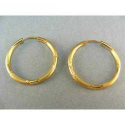Zlaté náušnice kruhy VA222Z