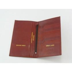 Pánska peňaženka kožená červeno-hneda farba VTONY2