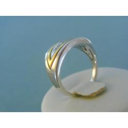 Zlatý prsteň dámsky s diamantom žlté biele zlato VP57739V