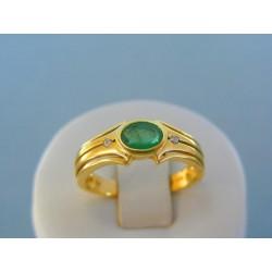 Zlatý prsteň dámsky žlté zlato diamanty VP59420Z