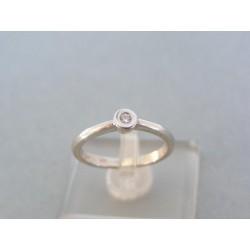 Zlatý dámsky prsteň biele zlato briliant VP53280B