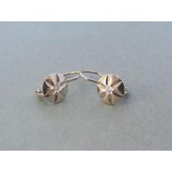 Zlaté detské náušnice biele zlato diamant VA187B