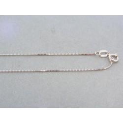 Zlatá retiazka jemný tvar biele zlato DR45099B
