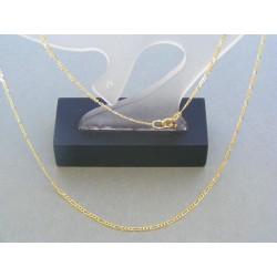 Zlatá retiazka vzor figáro žlté zlato DR42237Z