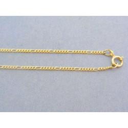 Zlatá retiazka žlté zlato vzor figáro DR42254Z