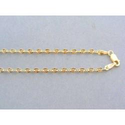 Zlatá retiazka žlté zlato zaujímavy vzor DR42443Z
