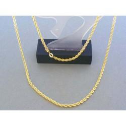 Zlatá retiazka dámska žlté zlato točený vzor DR45340Z