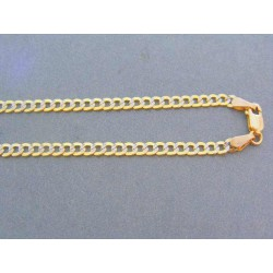 Zlatá retiazka vzor pancier žlté biele zlato VR455574V