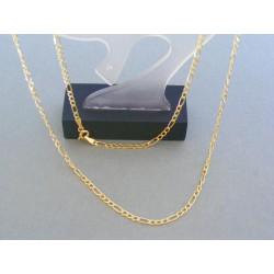 Zlatá retiazka vzor figáro žlté zlato VR505241Z