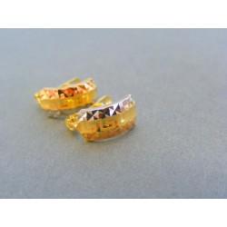 Zlaté dámske náušnice viacfarebné zlato VA127V/1
