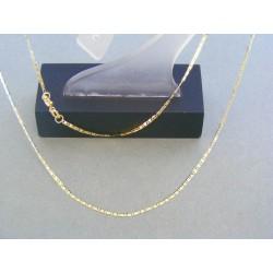 Zlatá retiazka žlté zlato jemná oválne tvary VR46124Z