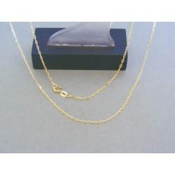 Zlatá retiazka oválne očká predelené žlté zlato VR51196Z