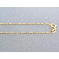 Zlatá retiazka žlté zlato jemná očká VR455119Z