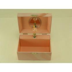 Detská hracia šperkovnica s baletkou ružová D1319