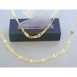 Zlatá retiazka žlté zlato vzor figáro DR45588Z