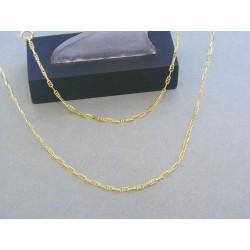 Zlatá retiazka oválne očká žlté zlato DR50245Z