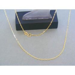 Zlatá retiazka oválne očká žlté zlato DR50193Z
