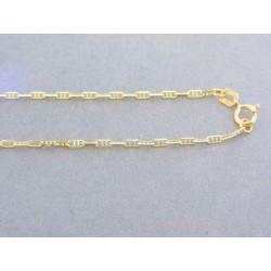 Zlatá retiazka žlté zlato oválne očká VR43208Z