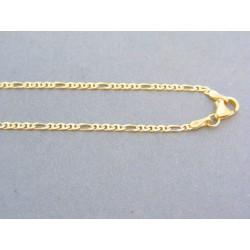 Zlatá retiazka žlté zlato vzor figáro VR555398Z