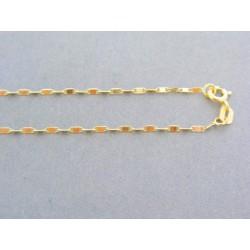 Zlatá retiazka žlté zlato platničky VR43199Z