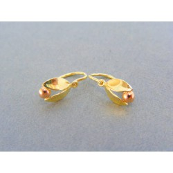 Zlaté detské náušnice žlté červené zlato VA110V