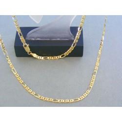 Zlatá retiazka žlté zlato vzor figáro VR505795Z