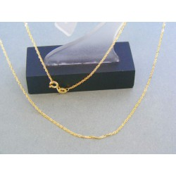Zlatá retiazka žlté zlato jemne točená VR46118Z