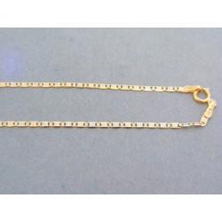 Zlatá retiazka žlté biele červené zlato oválne očká VR455173V
