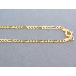 Zlatá retiazka žlté zlato vzor figáro DR45182Z